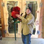 Giant Metal Rose