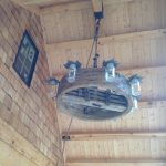 Maple leaf chandelier